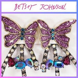 Betsey Johnson Butterfly Blitz Earrings
